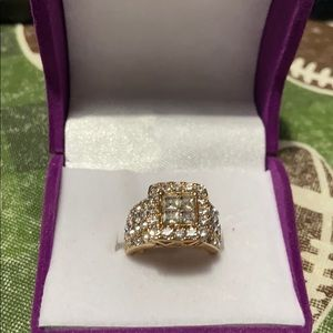 Wedding ring set size 6. Gold overlay